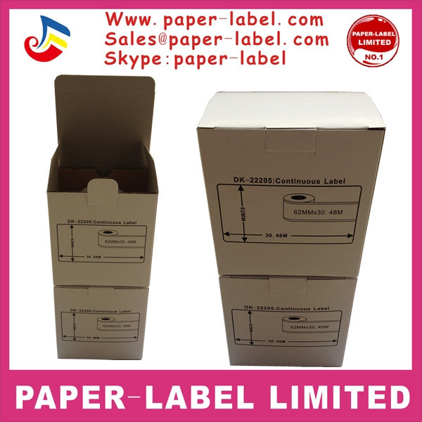 Brother Compatible Labels DK22205 DK-22205 DK 22205 with frame Thermal paper 62mm*30.48mm