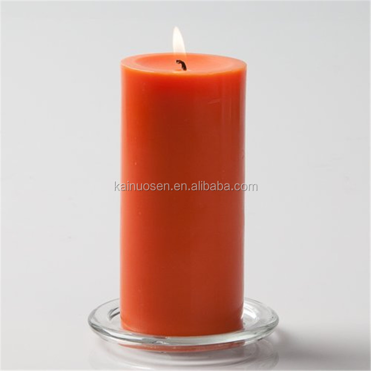 Hand Poured Orange Pillar Candle for Sale
