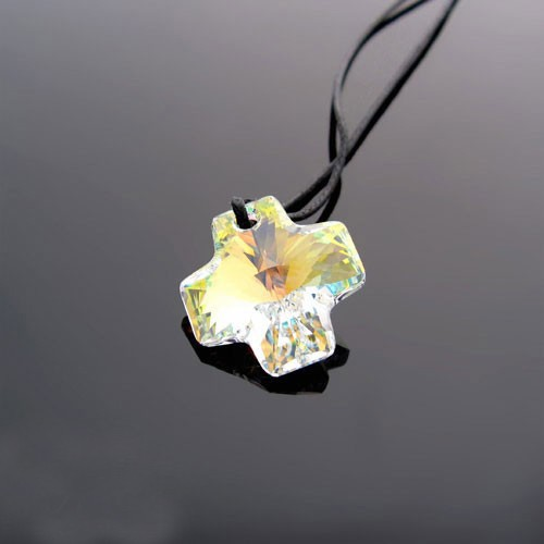 Colorful charm jewellery pure austria crystal cross locket pendant