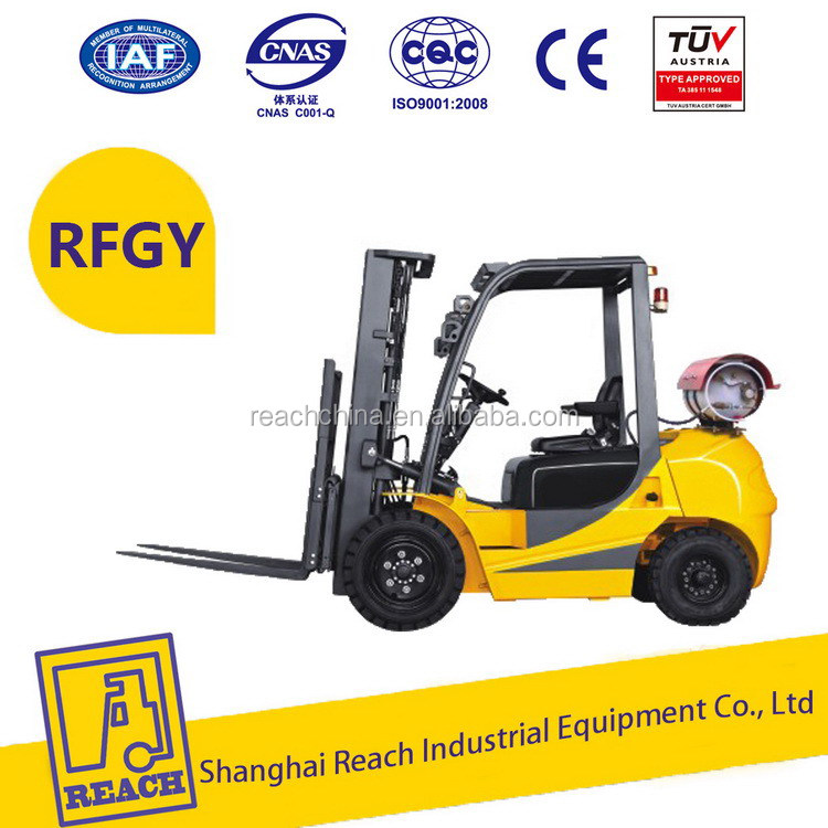 Stable performance hot price lpg/dual fuel/propane forklift truck