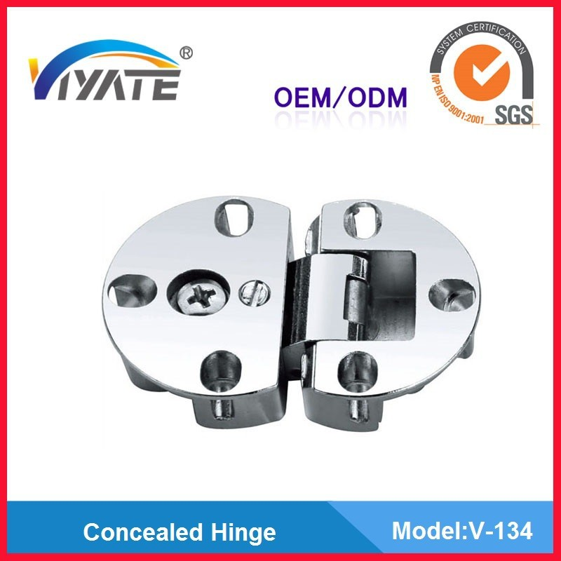 Zinc alloy Nickel plated cabinet flap hinge Drop flap table round hinge