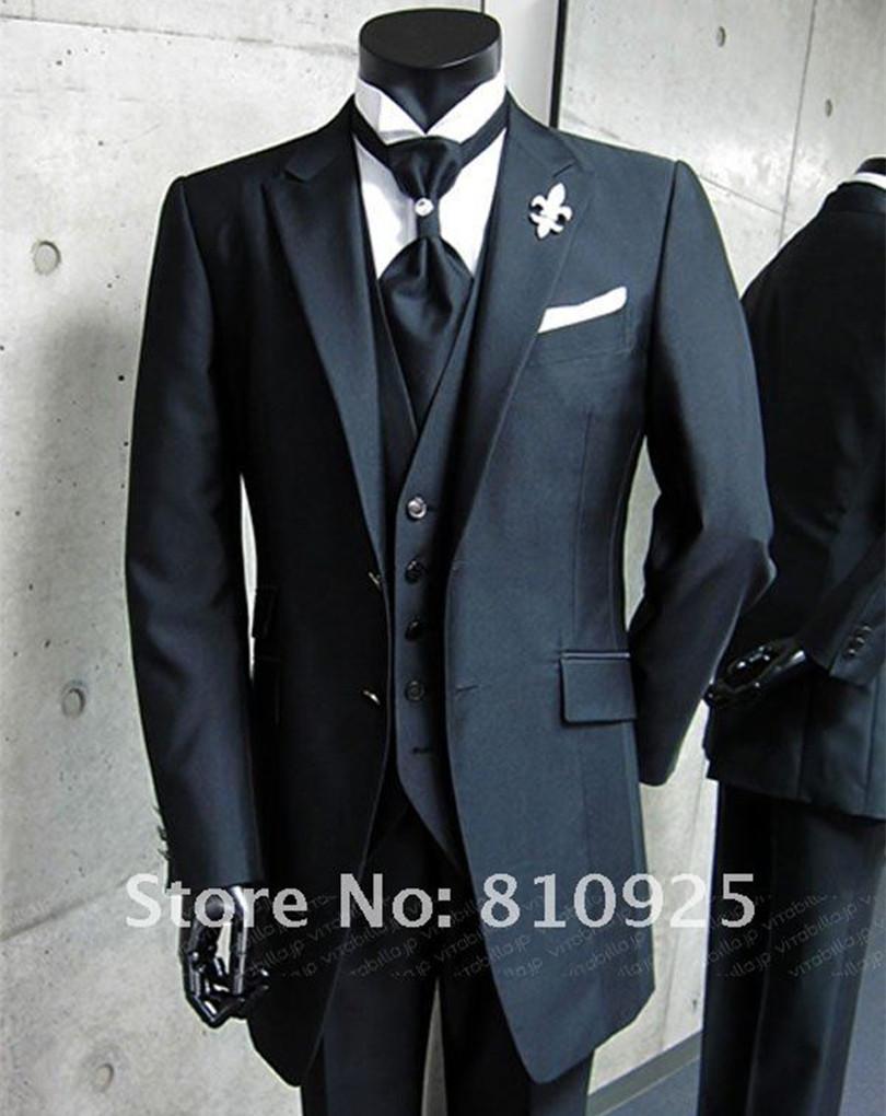 Bespoke Black Wedding Suit