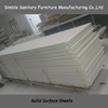 High quality stone made white pure acrylic solid surface
