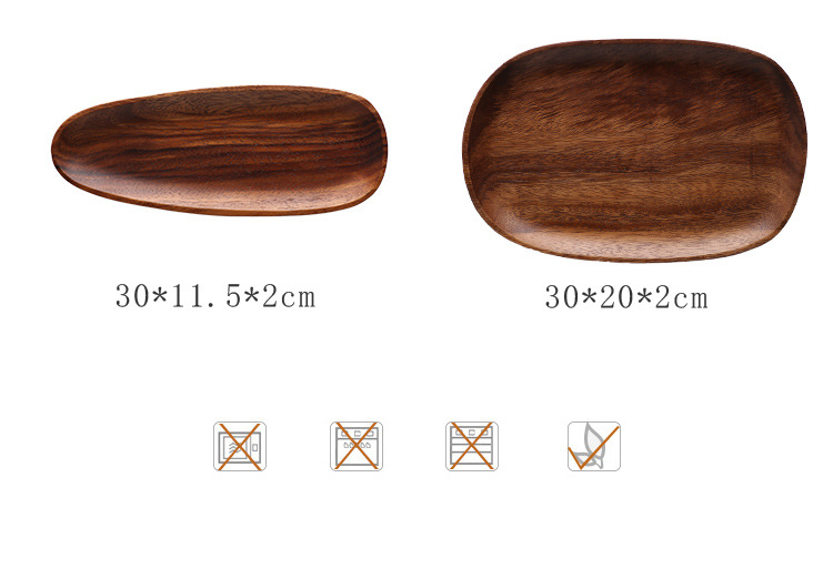 High Quality Cheap Bamboo Serving Dinner Plate Food Eco-Friendly Wood Plate