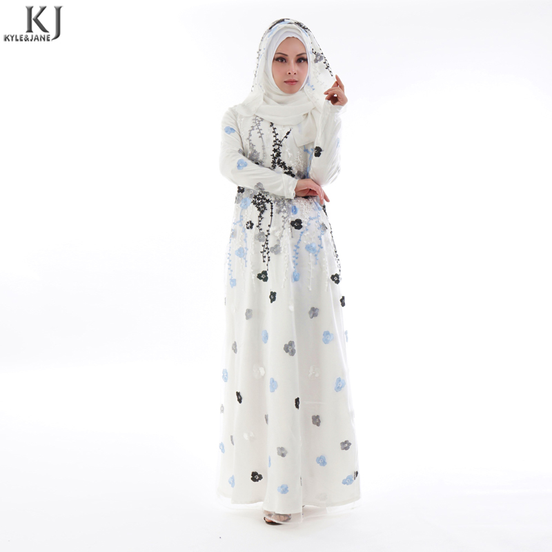New design white lace islamic women collection abaya of jeddah in china