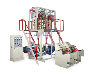 Double die Extrusion Blow Moulding Film Application Inflation Machine