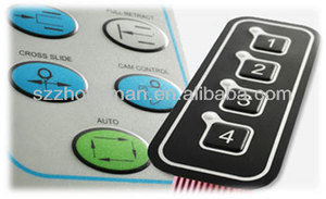 push button tactile custom membrane keypad with 3m adhesive