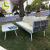 Custom made terrace contemporary  modern china aluminum leisure luxury outdoor garden furniture
