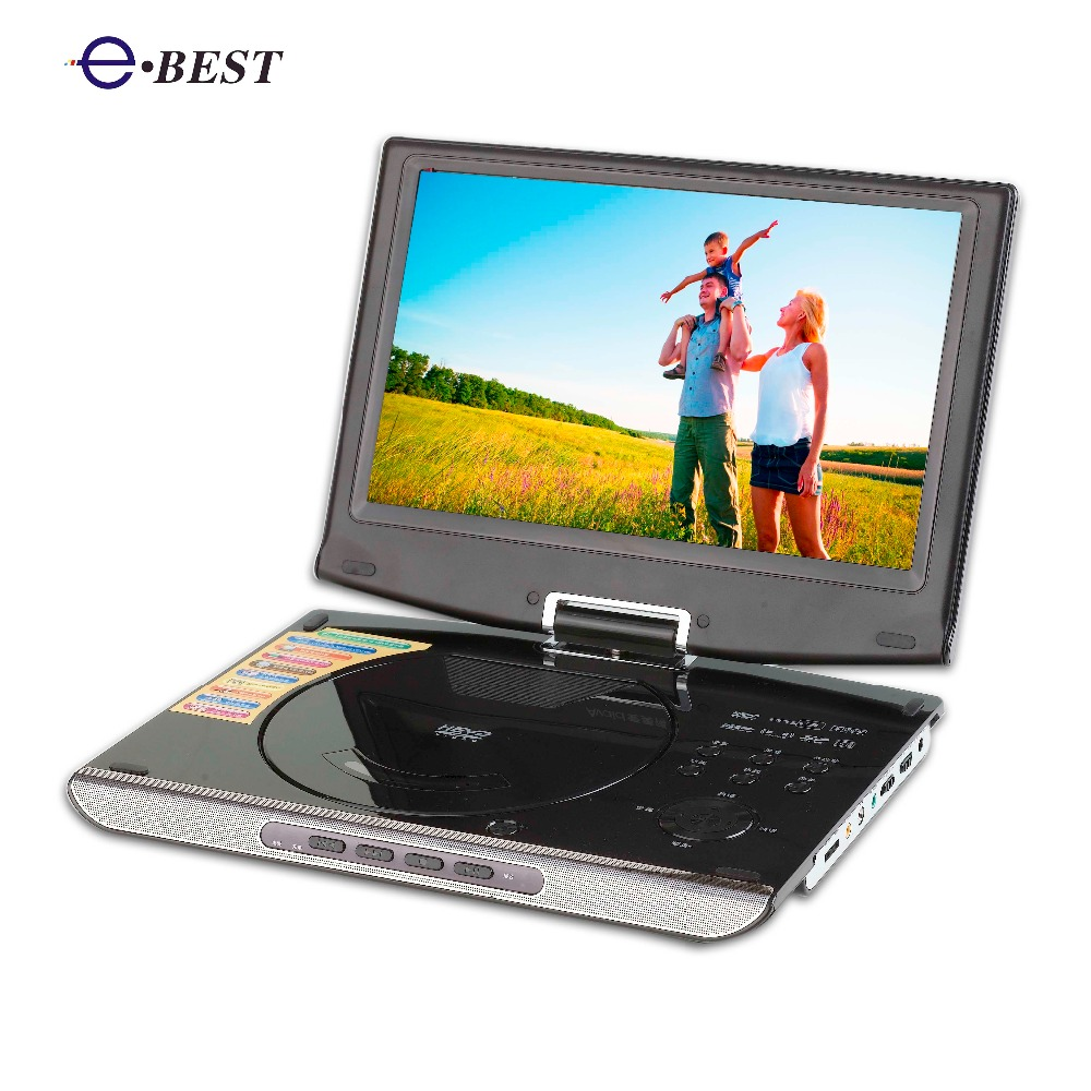 10.1 inch slim latop 3d portable dvd player with tv tuner