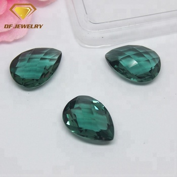 Wholesale Quartz Pear Shape Double Faceted Hydrothermal Green