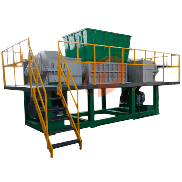 Double shaft scrap metal/wood/carton shredder recycling machine for sale