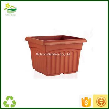 Garden Plastic Pots Wholesale Large Rectangle Planter New Plastic Planters
