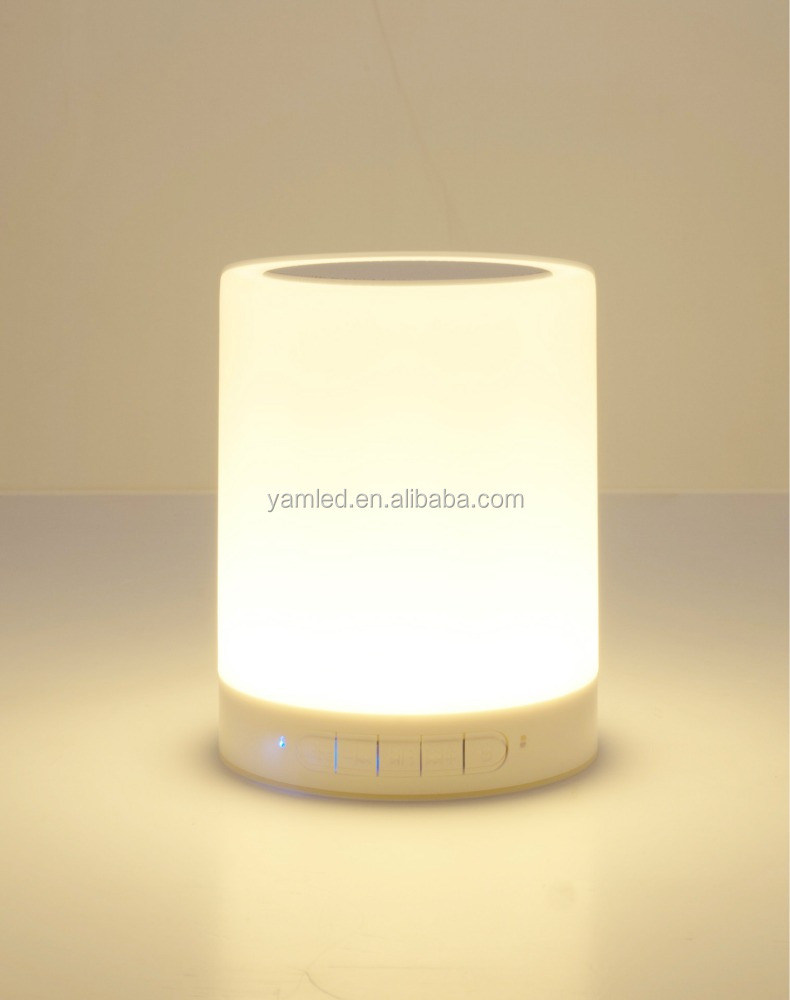 modern portable mini speaker design table lamp music lamp with changing color lamp led