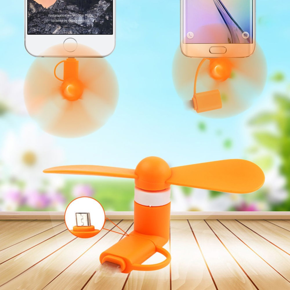 Mini 2 in 1 Portable Micro USB Fan For iPhone Hand Fan For Android OTG, Cell Phone Mini Electric Fan Cooling for smart phone