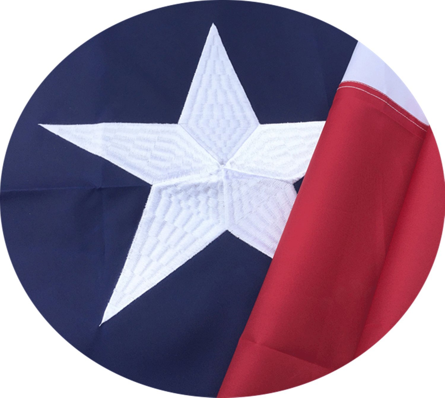 Texas State Flag 3x5 Ft with Embroidered Stars, Sewn Stripes and Long Lasting Nylon, UV Protected, Best 3 by 5 USA FlagsTexas, Best Texas Flag