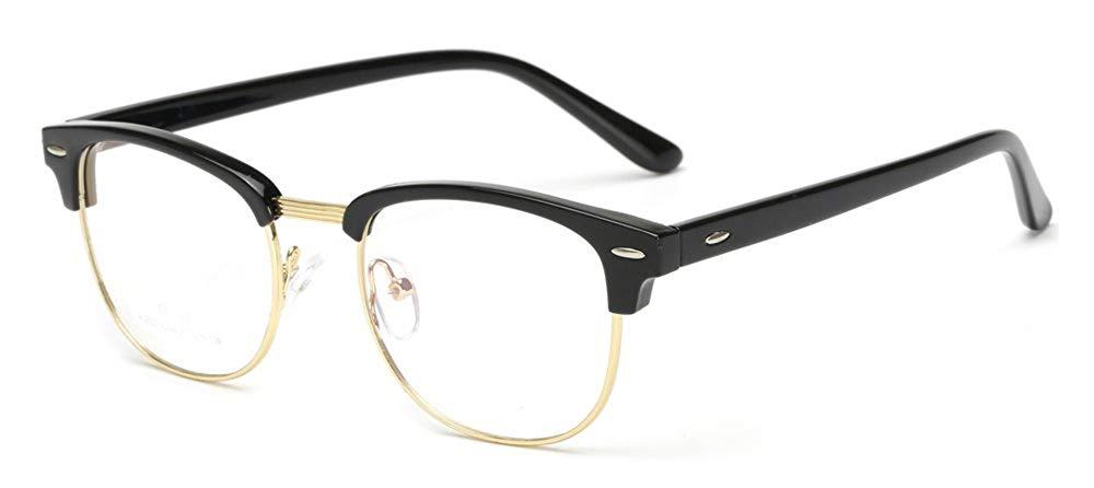 95e88de686e0 Get Quotations · Outray Vintage TR90 Half Frame Horn Rimmed Prescription  Optical Frames Glasses