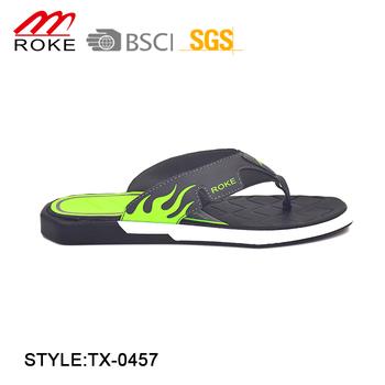 1dfb3fc7f Men Beach Walk Flip Flops Slippers Customized Logo Printed Slippers ...