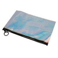 Fashion design holographic PVC bag Candy Color Laser pvc zip pouch for cosmetic