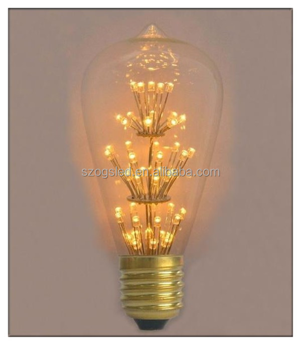 alibaba wholesale sz ogs china supplier pendant lamps lighting filament bulb st64 1w 2w 3w led light bulbs