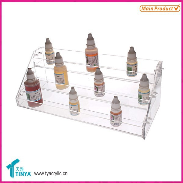 new products acrylic clear counter e-liquid showcase high quality plastic Essential Oil Displays cabinet
