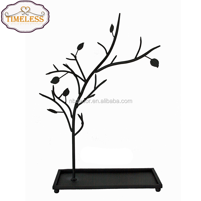 New design wrought iron scroll jewelry tree