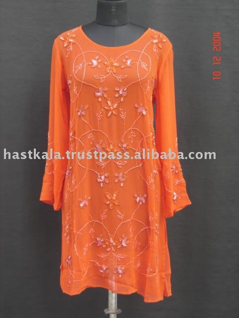 Silk Beaded Kurtas