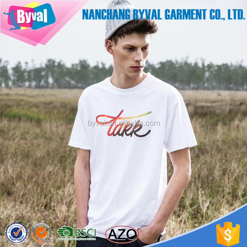 Different logos 100% cotton 180grams short sleeve men custom print t shirt