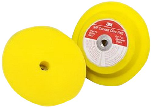 """3M(TM) Hookit(TM) Disc Pad Holder 947, Hook and Loop Attachment, 7"""" Diameter x 1"""" Thick, 5/8""""-11 Internal Thread, Yellow (Pack of 1)"""