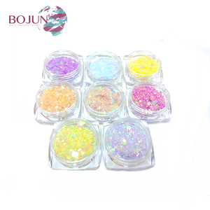 Wholesale Changed by sunlight UV Light sensitive uv powder mica acrylic nail products color photochromic pigment