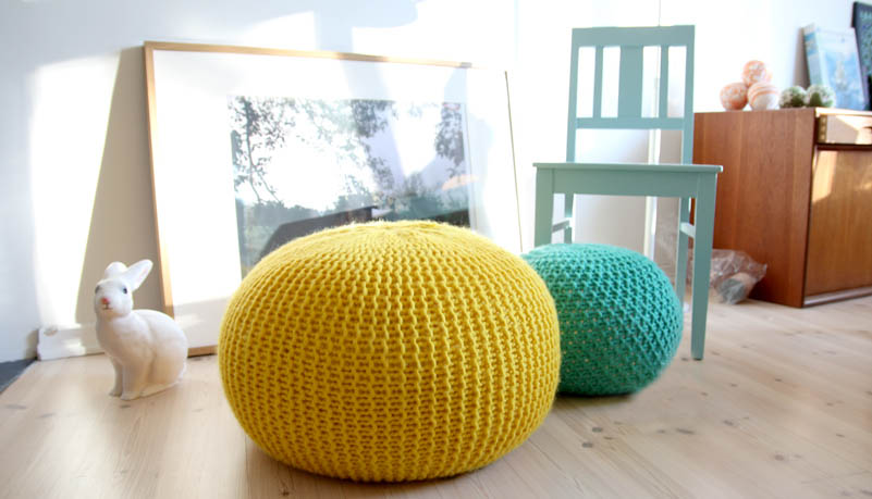 Chinese Factory Direct Sell 100% Hand Crochet Ball Round Pouf,Pouf ...