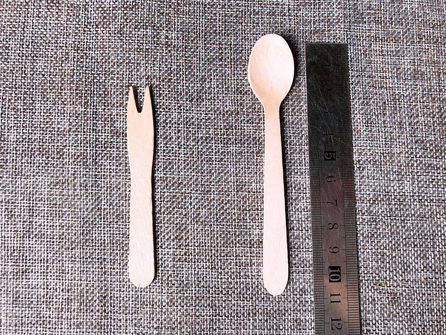Good Quality Wooden Fork Spoon Knife Wooden Disposable Cutlery Tableware