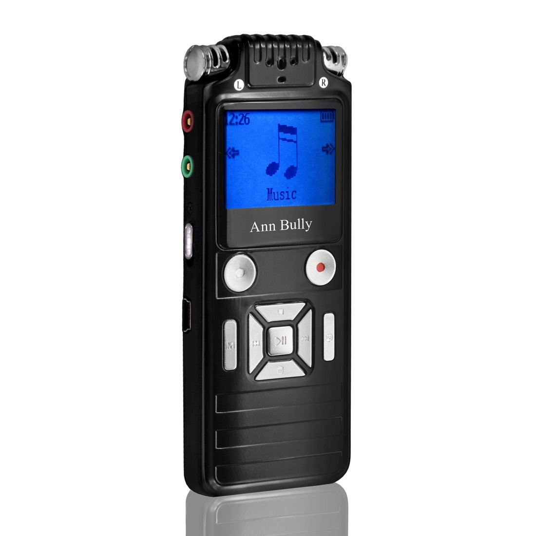 Digital Voice Recorder,Ultra-Slim 8GB Rechargeable Sound Audio Recorder Dictaphone with Voice Activated,Double Microphone,Metal Casing,Auto Recording,Mini MP3 for Meetings Lectures Interviews
