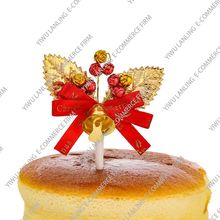 Harmless gold or silver OEM design delicate cute personalized leaf cake ornament