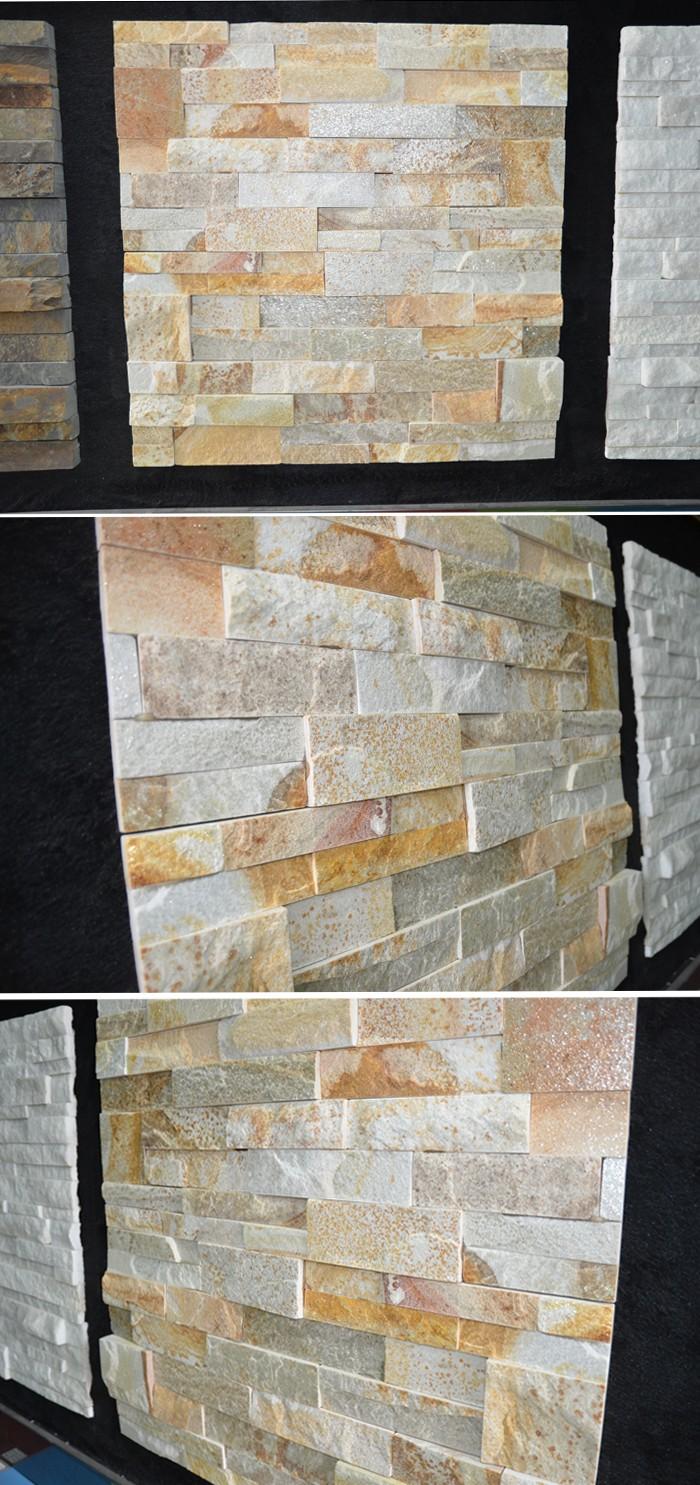 Hs Zt052 Arte Piedra Natural Mira Revestimiento De Pared Exterior De - Piedra-pared-exterior