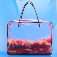 hot selling new style clear vinyl pvc plastic pillow carrier bag