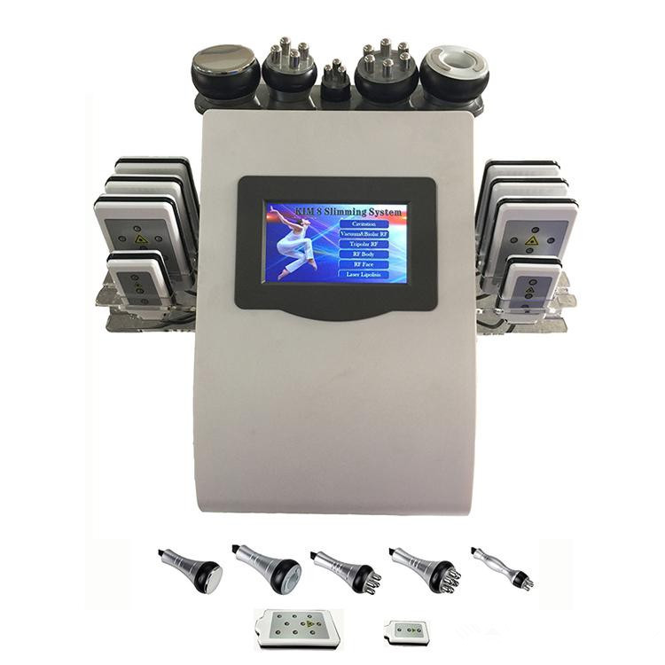 New Portable 6 In 1 cavi-lipo ultrasound cavitation machine 40K Cavitation RF Multipolar Tripolar Vacuum Laser Slimming Machine
