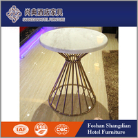 Modern Coffee Table and End Table, Golden Classic Coffee Table Set