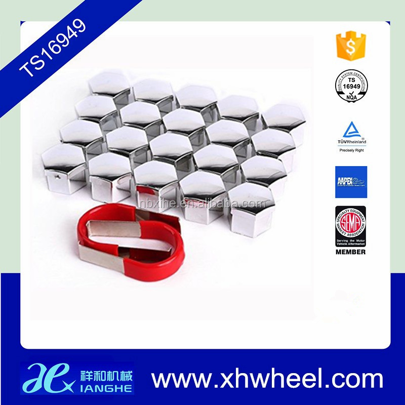 20pcs 17mm Wheel Lug Nut Bolt Cap Covers With Removal Tool