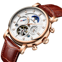Wholesale Luxury Watch Moon Phase Calendar High Quality Automatic Tourbillon Mechanical Man Watch