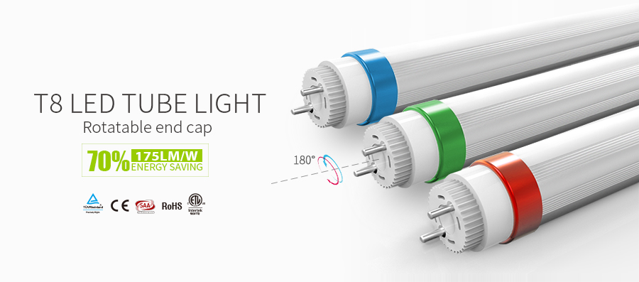 Top quality extremely energy efficient and durable 180LM/W TYPE B direct wire double ended input T5 T6 LED tube TUV SAA CE DLC