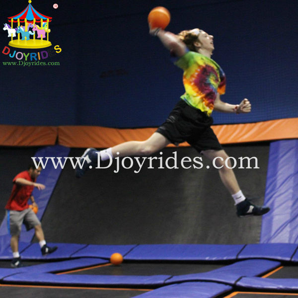 Fun Equipment Indoor Trampoline Park for Cheerful