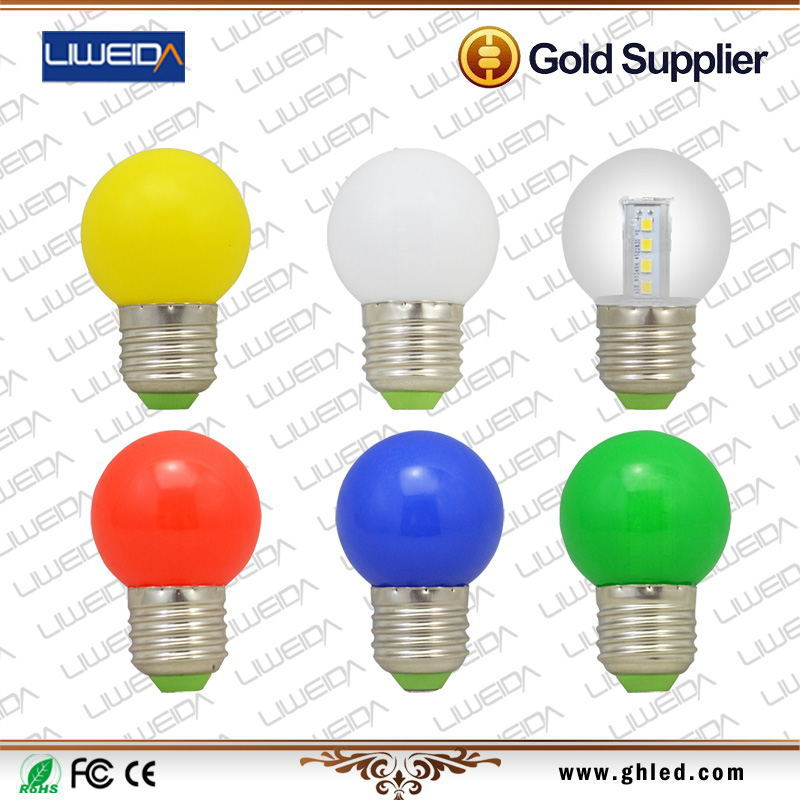 CE RoHS Approved AC100-240V Red/Green/Blue/Yellow/White 3W Colorful LED Lamp