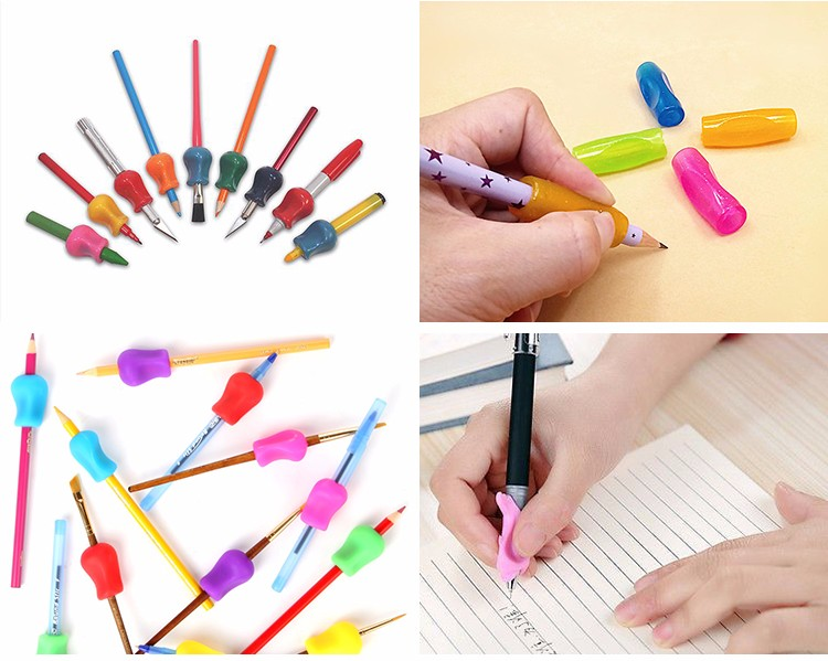 Triangle School Kids Silicone Handwriting Pencil Grips for Students