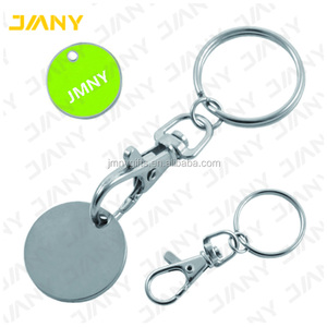 Promotional Trolley Token Coin Keyring with Printed Logo