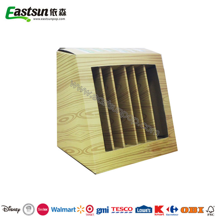 Customized Corrugated Counter Cardboard PDQ Tray Display Boxe