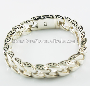 925 Solid Sterling Silver Jewelry Mens