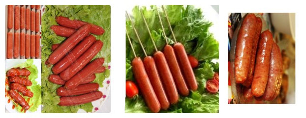 Hot sale mini pink color automatic 7 rollers Hot dog Grill / sausage making machine with sneeze guard/ glass door DHK-007