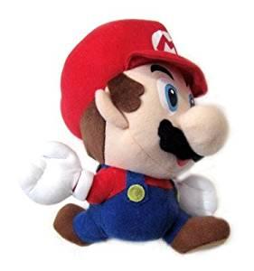"Nintendo 64 Super Mario Brothers Game Mario 8"" Plush Figure (Jumping)"