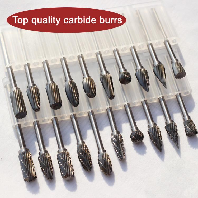 Premium Double Cut Tungsten Carbide Burr SH-5 Flame Shape