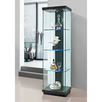 glass curio cabinet led light modern with lights ikea all cabinets sale